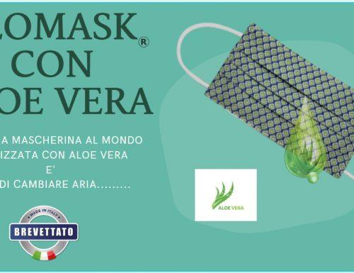 la nuova mascherina con aloe vera, per natale on line….BELLA E PROTETTIVA